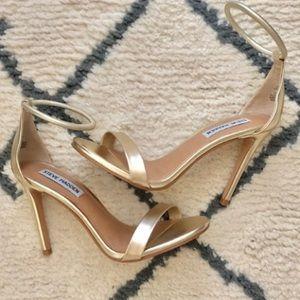 NIB Steve Madden Soph Champagne Ankle Strap Heels